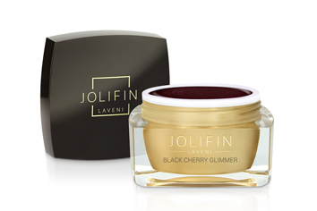 Jolifin LAVENI Farbgel - black cherry Glimmer 5ml