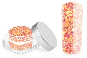 Jolifin Hexagon Glitter neon-coral