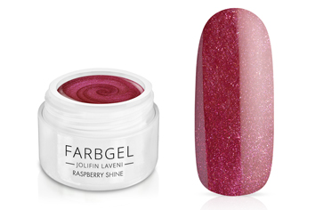 Jolifin LAVENI Farbgel - raspberry shine 5ml