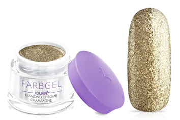 Jolifin Farbgel diamond chrome - champagne 5ml