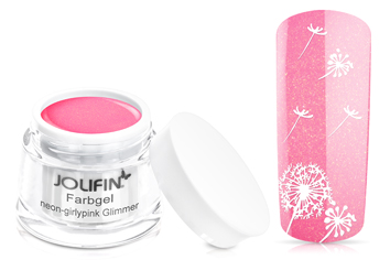Jolifin Farbgel neon-girlypink Glimmer 5ml