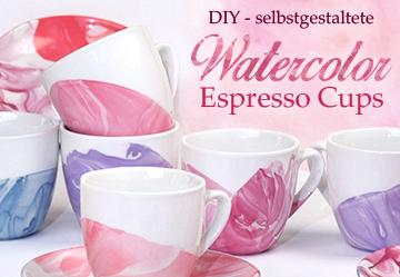 Watercolor Espresso Cups
