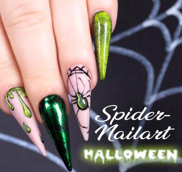 Halloween Nailart Spider