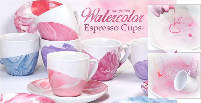 Watercolor Espresso-Cups
