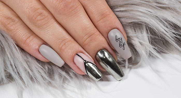 Trendstyle Nailart: Metallic Casual